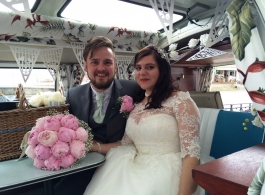 1960s Splitscreen VW Campervan wedding hire in Chepstow